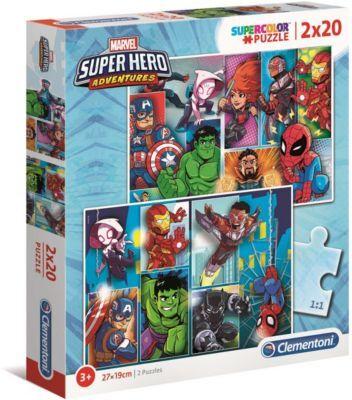 Clementoni Jeu CLEMENTONI Marvel Superhero - 2x20 p