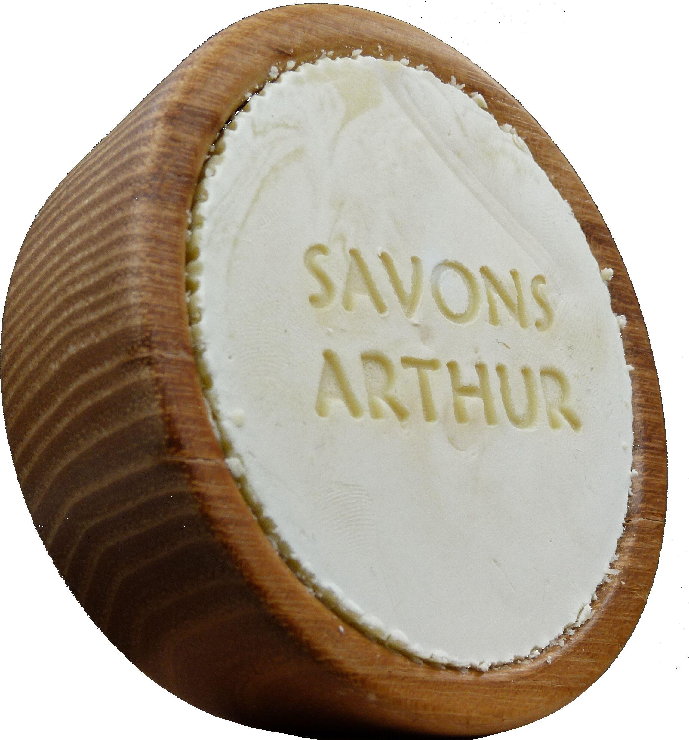 Savons Arthur Savon ARTHUR à barbe Bio et son bol en bois d'acacia