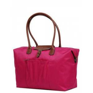 Hexagona Sac de voyage cabine femme Hexagona Cabas Long 55 cm Fuschia rose - Publicité