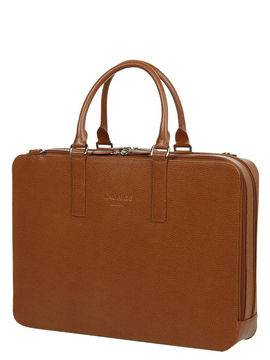 Laurige Sac ordinateur en cuir Laurige High-Tech 17 pouces Gold marron