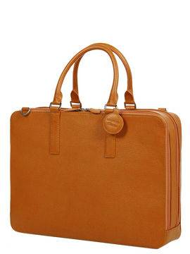 Laurige Sac ordinateur en cuir Laurige High-Tech 17 pouces Orange marron