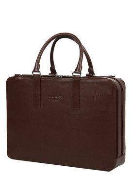 Laurige Sac ordinateur en cuir Laurige High-Tech 17 pouces Marron