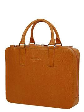 Laurige Sac ordinateur en cuir Laurige High-Tech 13 pouces Orange marron