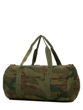 Fred Perry Sac Fred Perry Camouflage Barrel Bag 48 cm Iris Tundra Camo vert