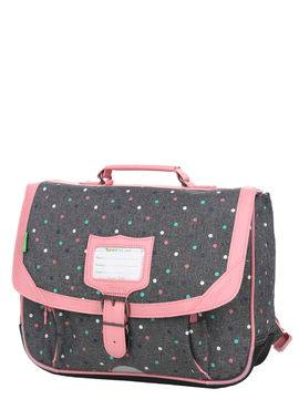 Tann's Cartable Tann's Les Chinés Lou 35 cm Gris/Rose