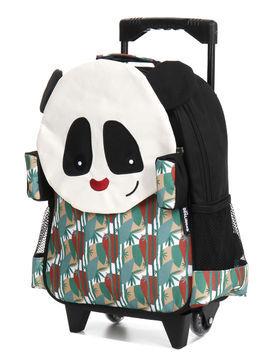 Les Déglingos Sac à dos à roulettes Les Déglingos Rototos Le Panda noir