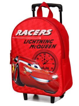 Disney Sac à dos à roulettes Cars Course 36 cm CP/CE1 Rouge Solde
