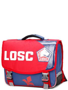 Football Cartable LOSC Lille 41 cm CE2/Collège Bleu rouge