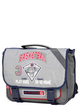 Basketball Cartable B-xtrem 38 cm CP/CE1/CE2 Gris