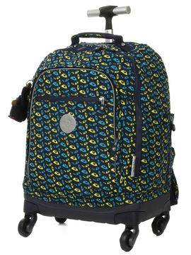 Kipling Sac à dos trolley Kipling Echo Nocturnal Eye bleu