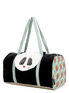 Les Déglingos Sac de sport Les Déglingos Rototos Le Panda 45 cm noir