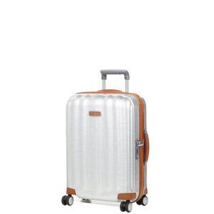 Samsonite Valise cabine rigide Samsonite Lite Cube DLX Slim 55 cm en Curv Aluminium gris