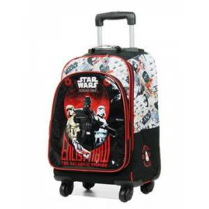 Disney Sac à dos scolaire 4 roulettes Star Wars Rogue Noir