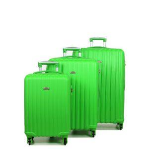 Snowball Set 3 valises rigides pas cher Snowball 55, 65, 75 cm Vert - Publicité