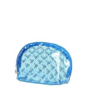 Guess Trousse de toilette translucide Guess Molly Dome Blue bleu - Publicité