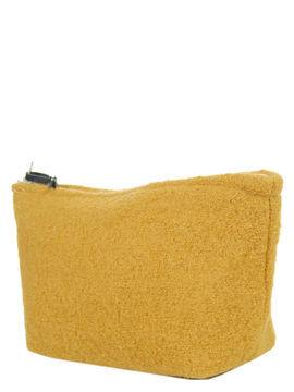 Isabelle Danicourt Trousse de toilette Isabelle Danicourt Laine - S Moutarde jaune