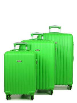 Snowball Set 3 valises rigides pas cher Snowball 55, 65, 75 cm Vert