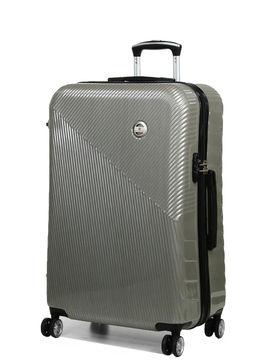 Snowball Grande valise rigide pas cher Snowball Brasilia 75 cm Silver gris