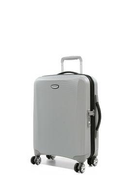 Samsonite Valise cabine rigide pas cher Samsonite Klassik DLX 55 cm Silver/Black gris