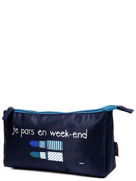 incidence trousse de toilette incidence je pars en week-end bleu marine