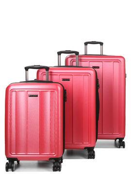 Madisson Set 3 valises rigides pas cher Madisson Manado Rose Solde