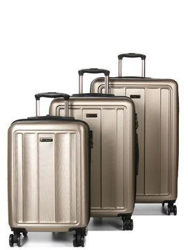 Madisson Set 3 valises rigides pas cher Madisson Manado Champagne beige