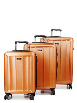 Madisson Set 3 valises rigides pas cher Madisson Manado Orange