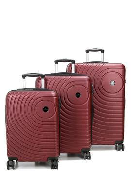 Madisson Ensemble 3 valises rigides pas cher Madisson Padoue Rouge Solde