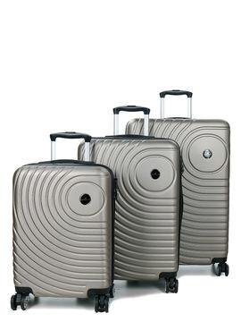 Madisson Ensemble 3 valises rigides pas cher Madisson Padoue Coffee marron Solde