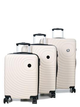 Madisson Ensemble 3 valises rigides pas cher Madisson Padoue Blanc Solde