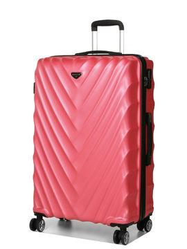 Madisson Grande valise rigide pas cher Madisson Parme 75 cm Rose Solde
