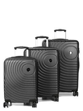 Madisson Ensemble 3 valises rigides pas cher Madisson Padoue Noir Solde