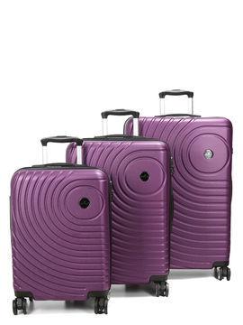 Madisson Ensemble 3 valises rigides pas cher Madisson Padoue Violet Solde