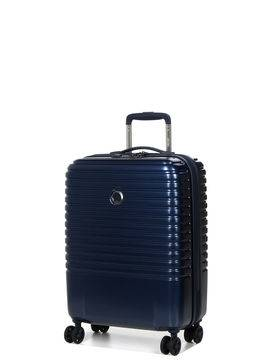Delsey Valise cabine pas cher Delsey Caumartin Plus Slim 55 cm Bleu Acier
