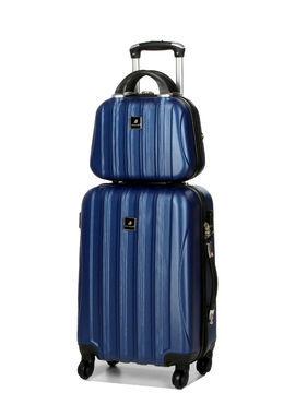Madisson Valise cabine rigide Madisson Jakarta 2 - 55 cm et vanity Bleu