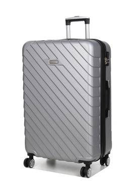 Madisson Grande valise pas cher Madisson Corfou 75 cm Silver gris Solde