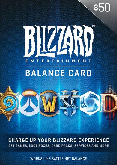 Blizzard Entertainment Battle.net Gift Card 50 USD Battle.net Key NORTH AMERICA