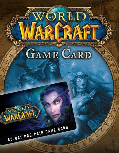 Blizzard Entertainment World of Warcraft 60-day time card US Battle.net Key NORTH AMERICA
