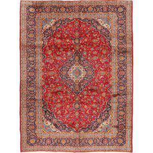 Noué à la main. Origine: Persia / Iran 298X397 Tapis Kashan D'orient Fait Main Rouille/Rouge/Rouge Foncé Grand (Laine, Perse/Iran) - Publicité