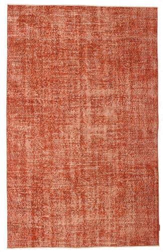 Noué à la main. Origine: Turkey Tapis Fait Main Colored Vintage 166X263 Rouge/Rose Clair (Laine, Turquie)