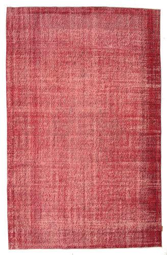 Noué à la main. Origine: Turkey 190X293 Tapis Colored Vintage Moderne Fait Main Rouille/Rouge/Rose (Laine, Turquie)