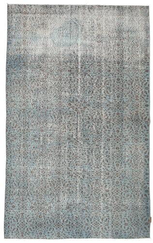 Noué à la main. Origine: Turkey 167X270 Tapis Colored Vintage Moderne Fait Main Vert Foncé/Vert Clair (Laine, Turquie)