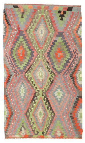 Noué à la main. Origine: Turkey Tapis Kilim Semi-Antique Turquie 167X285 Gris Clair/Rose Clair (Laine, Turquie)