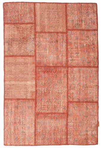 Noué à la main. Origine: Turkey Tapis Fait Main Patchwork 119X180 Rose Clair/Marron Clair (Laine, Turquie)
