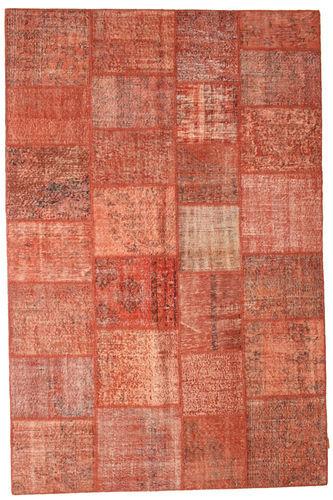 Noué à la main. Origine: Turkey Tapis Fait Main Patchwork 198X301 Rouge/Rose Clair (Laine, Turquie)