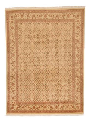 Noué à la main. Origine: Persia / Iran 216X289 Tapis D'orient Tabriz 50 Raj Beige Foncé/Marron Clair (Laine/Soie, Perse/Iran)