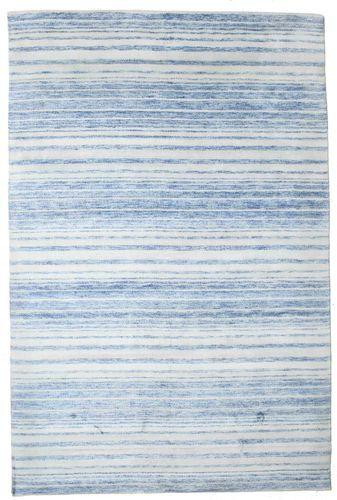 Noué à la main. Origine: India 201X303 Tapis Bambou Soie Handloom Moderne Fait Main Bleu Clair/Beige (Inde)