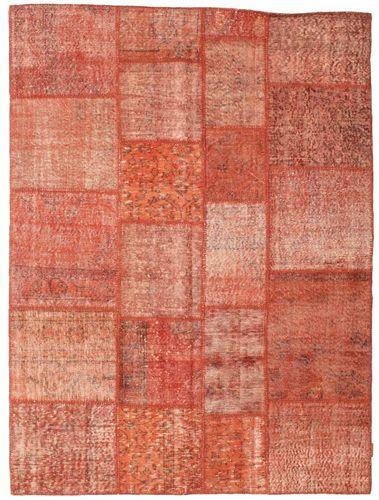 Noué à la main. Origine: Turkey Tapis Patchwork 171X232 Rouge/Rose Clair (Laine, Turquie)