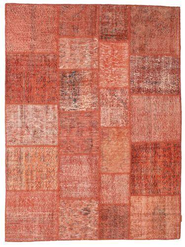 Noué à la main. Origine: Turkey Tapis Patchwork 172X233 Rouge/Rouge Foncé/Rose Clair (Laine, Turquie)