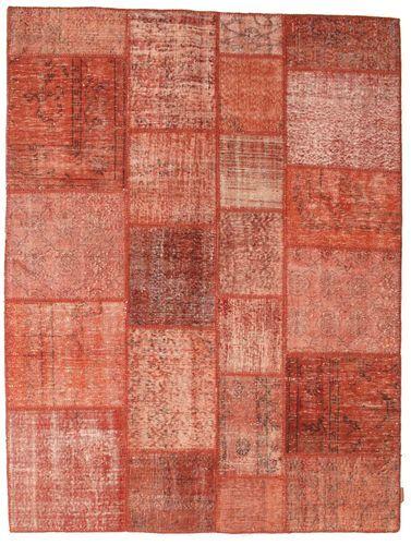 Noué à la main. Origine: Turkey Tapis Patchwork 173X230 Rouge/Rose Clair (Laine, Turquie)